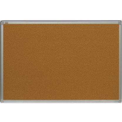 Изображение 2X3 BOARDS Korķa tāfele alumīnija rāmī 150x100 cm