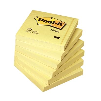 Picture of 3M Piezīmju līmlapiņas POST-IT ar izmēru 76x76mm dzeltenas