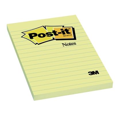 Attēls no 3M Piezīmju līmlapiņas POST-IT līniju, 102x152mm, dzeltenas