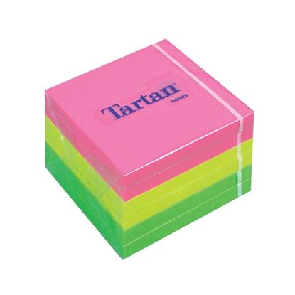 Attēls no 3M Piezīmju līmlapiņu kubs TARTAN, 76x76mm, 400 krāsainas lapiņas