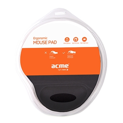Picture of Acme Ergonomic mouse pad Black, 220 x 250 x 25 mm