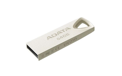 Attēls no ADATA AUV210-64G-RGD 64GB USB 2.0 Type-A Beige USB flash drive
