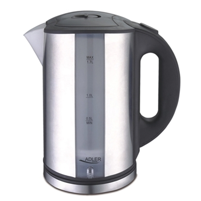 Изображение Adler Kettle AD 1216 Standard, Stainless steel, Stainless steel, 2000 W, 360° rotational base, 1.7 L
