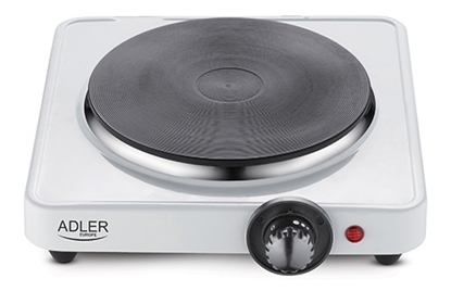 Изображение Adler Free standing table hob AD 6503 Number of burners/cooking zones 1, White, Electric stove, Electric