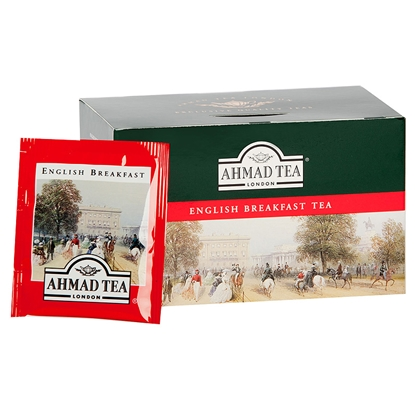 Изображение AHMAD Melnā tēja   Alu ENGLISH BREAKFAST, 20 maisiņi paciņā