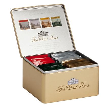 Изображение AHMAD Melnā tēja   CHEST FOUR, 40 maisiņi kastītē