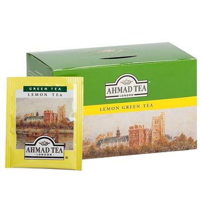 Attēls no AHMAD Zaļā tēja   Alu GREEN LEMON, 20 maisiņi paciņā