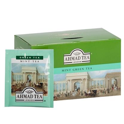 Attēls no AHMAD Zaļā tēja   Alu GREEN MINT, 20 maisiņi paciņā