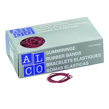 Изображение ALCO Gumijas naudas iesaiņošanai   1.5x65mm 1 kg, sarkana