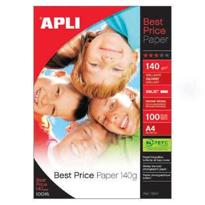 Изображение APLI Fotopapīrs   Best Price InkJet, A4, 140g/m2, glancēts, 100 loksnes