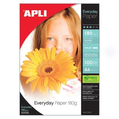 Изображение APLI Fotopapīrs   Everyday paper InkJet, glancēts, A4 180g/m2, 100 loksnes