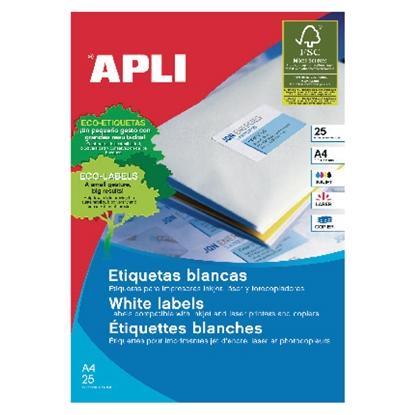 Изображение APLI Uzlīmes   ar izmēru 25.4x10mm, 25 loksnes/iepak., 189 uzlīmes, noņemamas (ar noapaļotiem stūriem)