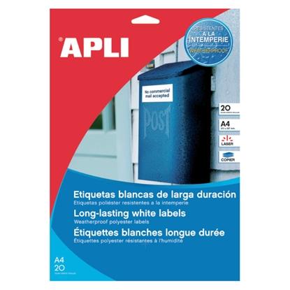 Изображение APLI Uzlīmes   ar izmēru 70x37mm 20 loksnes/480 uzlīmes caurspīdīgas