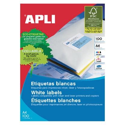 Изображение APLI Uzlīmes   ILC ar izmēru 38x21.2mm, 100 loksnes/65 uzlīmes loksnē (01283; 03052;3127)