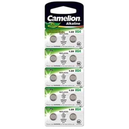 Picture of Camelion AG4/LR66/LR626/377, Alkaline Buttoncell, 10 pc(s)