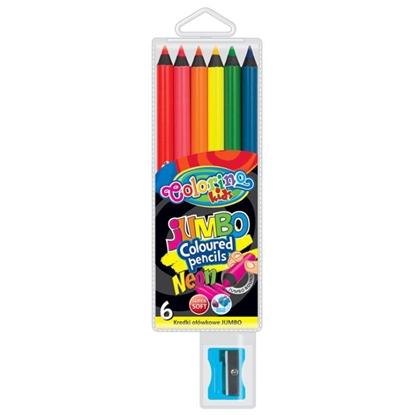 Изображение COLORINO   JUMBO krāsainie zīmuļi, 6 neona krāsas