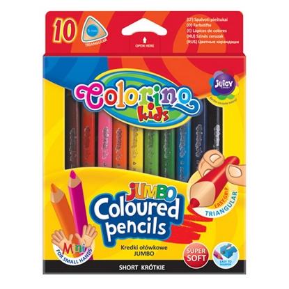 Изображение COLORINO Krāsainie zīmuļi   JUMBO 10 krāsas