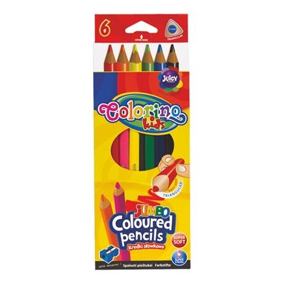 Attēls no COLORINO Trīsstura formas krāsainie zīmuļi   JUMBO 6 krāsas