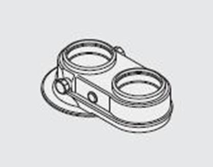 Attēls no DEDIETRICH Dūmvada adapteris/pāreja Ø 60/100 uz 2x80 DY868