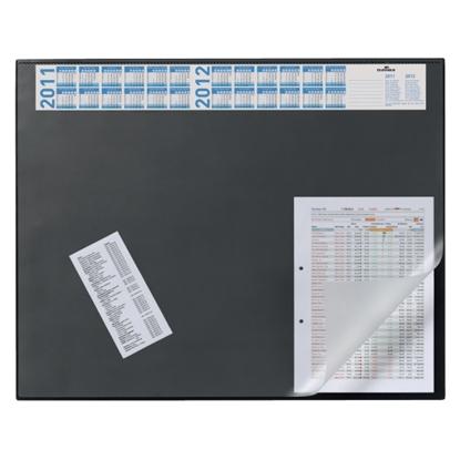 Изображение DURABLE Galda segums   ar plēvi un kalendāru, 52x65cm, melns