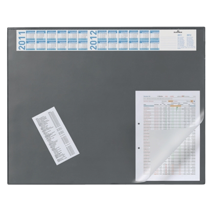 Изображение DURABLE Galda segums   ar plēvi un kalendāru, 52x65cm, pelēks