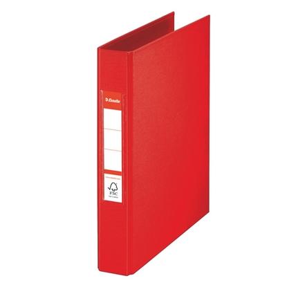 Attēls no ESSELTE Mape   A5 formāts, 2 riņķi 25mm, muguriņa 35mm, sarkana