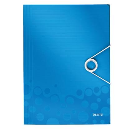 Attēls no ESSELTE Mape ar gumiju Leitz WOW ar 3 iekš. atl., A4, zila krāsā
