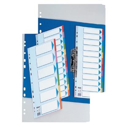 Attēls no ESSELTE Sadalītājs dokumentiem   A4, 1-10 kartona ar krāsainiem cipariem