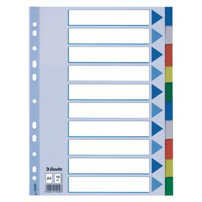 Attēls no ESSELTE Sadalītājs dokumentiem  , A4 formāts, 1-10 krāsains, plastikāta