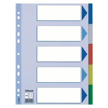Attēls no ESSELTE Sadalītājs dokumentiem  , A4 formāts, 1-5 krāsains, plastikāta