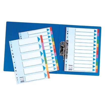 Attēls no ESSELTE Sadalītājs dokumentiem  , kartona, A4 formāts, 1-10 krāsains