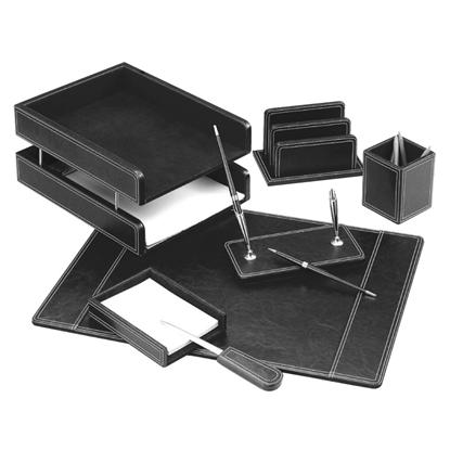 Picture of FORPUS Galda komplekts   6 daļas, melna āda