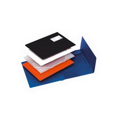 Изображение HAMELIN Mape ar gumiju BANTEX A4 formāts, melna