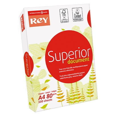 Picture of INTERNATIONAL PAPER Papīrs REY SUPERIOR A4 80g/m2, 500 loksnes/iepakojumā
