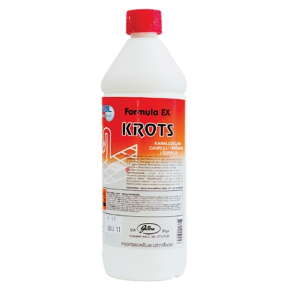 Attēls no JUSMA Kanalizācijas cauruļu tīrīšanas līdzeklis EWOL Professional Formula EX Krot,1 L