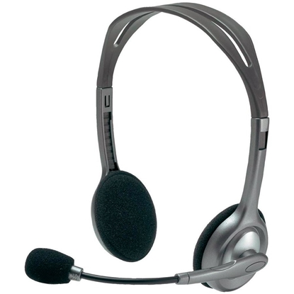Picture of Austiņas ar mikrofonu Logitech Stereo Headset H110
