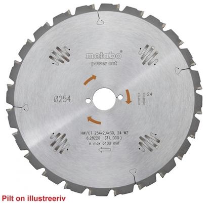 Attēls no METABO Ripzāģa asmens 190x2,2/1,4x30, z48, WZ, 15°. Precision Cut. KS 66 / KSE 68,