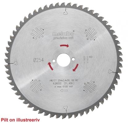 Изображение METABO Ripzāģa asmens 254x2,4/1,8x30, z48, WZ, 5° neg, Precision cu,