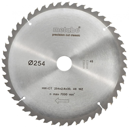 Изображение METABO Zāģripa 254x2,4/1,8x30mm, z48, WZ, -5°, Classic,
