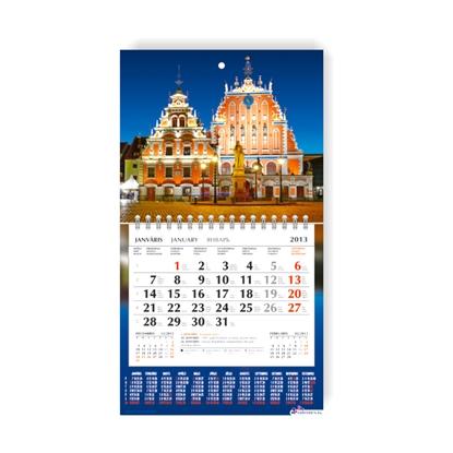 Изображение MOBILE SERVISS Sienas kalendārs 2019.gadam   Mini, divdaļīgs ar metāla spirāli