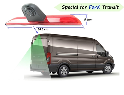 Изображение MULTINAVI Ford transit atpakaļskata kamera ar bremžu gaismu  RC-6013 (Sharp CCD Camera, mirror, 4PIN)