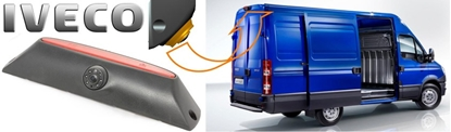 Изображение MULTINAVI Iveco Daily atpakaļskata kamera ar bremžu signālu  RC-6015 (Sharp CCD Camera, mirror, 4PIN)