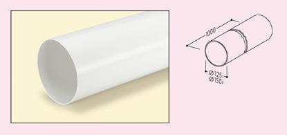 Attēls no NABER ventilācijas kanāls, apaļš Ø 150 mm, 1000 mm