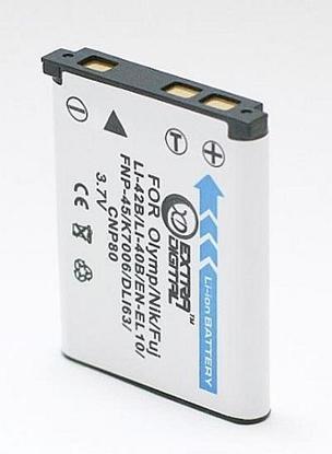 Изображение Olympus, battery Li-40B/ Li-42B, D-Li63, NP-45A,EN-EL10