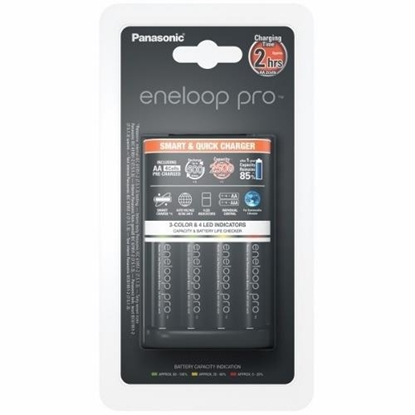 Attēls no Panasonic eneloop Basic Battery Charger  1-4 AA/AAA, 4 x R6/AA 2500 mAh black incl.