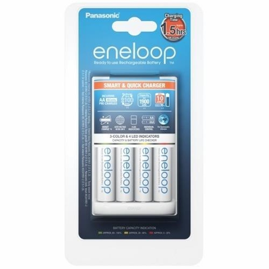14331ad7069 Picture of Panasonic Eneloop Battery Charger + 4 x R6 AA K-KJ55MCC40E Ni