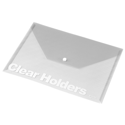 Attēls no PANTA PLAST Mape-aploksne ar pogu   PP, A4 formāts, caurspīdīgi balta