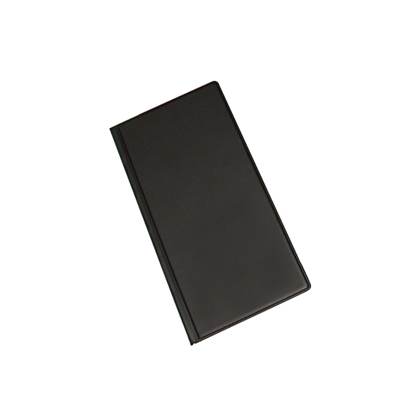 Attēls no PANTA PLAST Vizītkaršu bloknots Pantaplast, 96 vizītkartēm, melns    24.5 cm x 12 cm