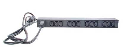 Attēls no APC Rack 19'' Basic PDU, 1U, 16A/230V, 12 outlets C13