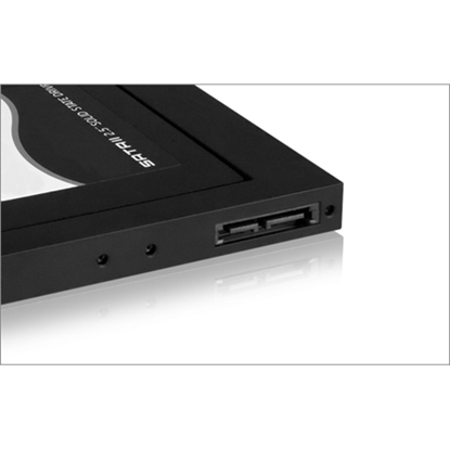 Attēls no RAIDSONIC Icy Box Adapter for 2.5`` HDD/SSD Notebook extension (9.5 mm dvd slot), Black